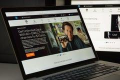 Μιλάνο, Ιταλία - 10 Αυγούστου 2017: Αρχική σελίδα ιστοχώρου της AT&T Είναι Στοκ φωτογραφία με δικαίωμα ελεύθερης χρήσης