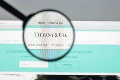 Μιλάνο, Ιταλία - 10 Αυγούστου 2017: Αρχική σελίδα ιστοχώρου της Tiffany Είναι Στοκ φωτογραφία με δικαίωμα ελεύθερης χρήσης