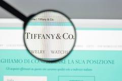 Μιλάνο, Ιταλία - 10 Αυγούστου 2017: Αρχική σελίδα ιστοχώρου της Tiffany Είναι Στοκ Εικόνες
