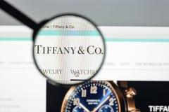 Μιλάνο, Ιταλία - 10 Αυγούστου 2017: Αρχική σελίδα ιστοχώρου της Tiffany Είναι Στοκ εικόνες με δικαίωμα ελεύθερης χρήσης