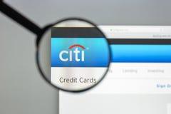 Μιλάνο, Ιταλία - 10 Αυγούστου 2017: Αρχική σελίδα ιστοχώρου τραπεζών της Citibank Στοκ Εικόνα