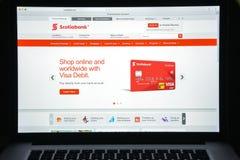 Μιλάνο, Ιταλία - 10 Αυγούστου 2017: Αρχική σελίδα ιστοχώρου τραπεζών Scotiabank Στοκ φωτογραφίες με δικαίωμα ελεύθερης χρήσης