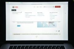 Μιλάνο, Ιταλία - 10 Αυγούστου 2017: Αρχική σελίδα ιστοχώρου τραπεζών UBS Είναι Στοκ Εικόνα