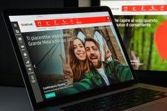 Μιλάνο, Ιταλία - 10 Αυγούστου 2017: Αρχική σελίδα ιστοχώρου τραπεζών Unicredit Στοκ εικόνες με δικαίωμα ελεύθερης χρήσης
