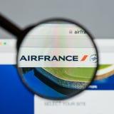 Μιλάνο, Ιταλία - 10 Αυγούστου 2017: Αρχική σελίδα ιστοχώρου Air France Αυτό Στοκ φωτογραφίες με δικαίωμα ελεύθερης χρήσης