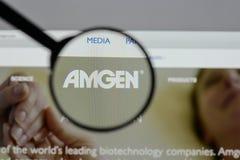 Μιλάνο, Ιταλία - 10 Αυγούστου 2017: αρχική σελίδα ιστοχώρου amgen Είναι Στοκ εικόνες με δικαίωμα ελεύθερης χρήσης