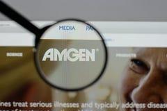 Μιλάνο, Ιταλία - 10 Αυγούστου 2017: αρχική σελίδα ιστοχώρου amgen Είναι Στοκ φωτογραφία με δικαίωμα ελεύθερης χρήσης