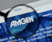 Μιλάνο, Ιταλία - 10 Αυγούστου 2017: αρχική σελίδα ιστοχώρου amgen Είναι Στοκ εικόνα με δικαίωμα ελεύθερης χρήσης
