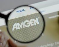 Μιλάνο, Ιταλία - 10 Αυγούστου 2017: αρχική σελίδα ιστοχώρου amgen Είναι Στοκ Φωτογραφία