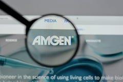 Μιλάνο, Ιταλία - 10 Αυγούστου 2017: αρχική σελίδα ιστοχώρου amgen Είναι Στοκ Εικόνες