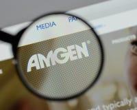 Μιλάνο, Ιταλία - 10 Αυγούστου 2017: αρχική σελίδα ιστοχώρου amgen Είναι Στοκ φωτογραφίες με δικαίωμα ελεύθερης χρήσης
