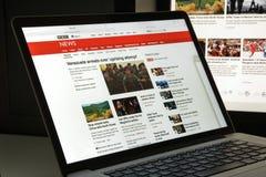 Μιλάνο, Ιταλία - 10 Αυγούστου 2017: Αρχική σελίδα ιστοχώρου BBC Είναι BR Στοκ Φωτογραφίες