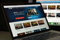 Μιλάνο, Ιταλία - 10 Αυγούστου 2017: Αρχική σελίδα ιστοχώρου CBS Είναι ένα Α Στοκ φωτογραφία με δικαίωμα ελεύθερης χρήσης