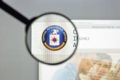 Μιλάνο, Ιταλία - 10 Αυγούστου 2017: Αρχική σελίδα ιστοχώρου CIA Είναι ένα CI στοκ εικόνες