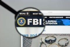 Μιλάνο, Ιταλία - 10 Αυγούστου 2017: Αρχική σελίδα ιστοχώρου FBI Είναι Στοκ φωτογραφία με δικαίωμα ελεύθερης χρήσης