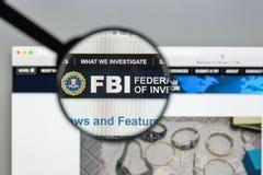 Μιλάνο, Ιταλία - 10 Αυγούστου 2017: Αρχική σελίδα ιστοχώρου FBI Είναι Στοκ Φωτογραφίες