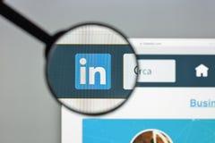 Μιλάνο, Ιταλία - 10 Αυγούστου 2017: Αρχική σελίδα ιστοχώρου Linkedin Είναι Στοκ εικόνα με δικαίωμα ελεύθερης χρήσης