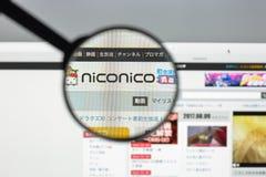 Μιλάνο, Ιταλία - 10 Αυγούστου 2017: Αρχική σελίδα ιστοχώρου Nicovideo Αυτό ι Στοκ εικόνα με δικαίωμα ελεύθερης χρήσης