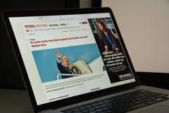 Μιλάνο, Ιταλία - 10 Αυγούστου 2017: Αρχική σελίδα ιστοχώρου Spiegel είναι ένας Στοκ Φωτογραφία