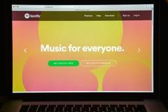 Μιλάνο, Ιταλία - 10 Αυγούστου 2017: Αρχική σελίδα ιστοχώρου Spotify Είναι Στοκ φωτογραφία με δικαίωμα ελεύθερης χρήσης