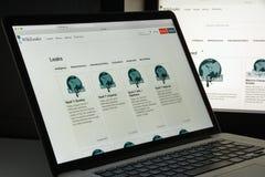 Μιλάνο, Ιταλία - 10 Αυγούστου 2017: Αρχική σελίδα ιστοχώρου Wikileaks Αυτό ι Στοκ εικόνα με δικαίωμα ελεύθερης χρήσης