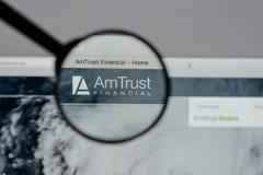 Μιλάνο, Ιταλία - 10 Αυγούστου 2017: Ιστοί χρηματοπιστωτικών υπηρεσιών εμπιστοσύνης AM Στοκ εικόνα με δικαίωμα ελεύθερης χρήσης