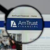 Μιλάνο, Ιταλία - 10 Αυγούστου 2017: Ιστοί χρηματοπιστωτικών υπηρεσιών εμπιστοσύνης AM Στοκ Φωτογραφίες