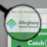 Μιλάνο, Ιταλία - 10 Αυγούστου 2017: Ιστοχώρος δικτύων υγείας Allegheny Στοκ εικόνες με δικαίωμα ελεύθερης χρήσης