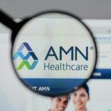 Μιλάνο, Ιταλία - 10 Αυγούστου 2017: Ιστοχώρος υπηρεσιών υγειονομικής περίθαλψης AMN Στοκ εικόνες με δικαίωμα ελεύθερης χρήσης