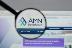 Μιλάνο, Ιταλία - 10 Αυγούστου 2017: Ιστοχώρος υπηρεσιών υγειονομικής περίθαλψης AMN Στοκ Εικόνες