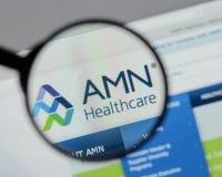 Μιλάνο, Ιταλία - 10 Αυγούστου 2017: Ιστοχώρος υπηρεσιών υγειονομικής περίθαλψης AMN Στοκ φωτογραφία με δικαίωμα ελεύθερης χρήσης