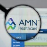 Μιλάνο, Ιταλία - 10 Αυγούστου 2017: Ιστοχώρος υπηρεσιών υγειονομικής περίθαλψης AMN Στοκ εικόνα με δικαίωμα ελεύθερης χρήσης