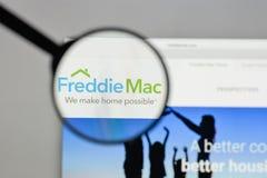 Μιλάνο, Ιταλία - 10 Αυγούστου 2017: Λογότυπο του Freddie Mac στον ιστοχώρο Στοκ εικόνες με δικαίωμα ελεύθερης χρήσης