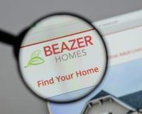 Μιλάνο, Ιταλία - 10 Αυγούστου 2017: Λογότυπο των εγχώριων ΗΠΑ Beazer στον Ιστό Στοκ φωτογραφίες με δικαίωμα ελεύθερης χρήσης
