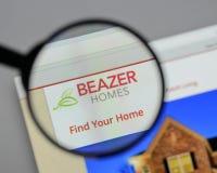 Μιλάνο, Ιταλία - 10 Αυγούστου 2017: Λογότυπο των εγχώριων ΗΠΑ Beazer στον Ιστό Στοκ εικόνες με δικαίωμα ελεύθερης χρήσης
