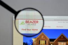 Μιλάνο, Ιταλία - 10 Αυγούστου 2017: Λογότυπο των εγχώριων ΗΠΑ Beazer στον Ιστό Στοκ Εικόνα