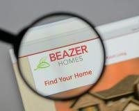 Μιλάνο, Ιταλία - 10 Αυγούστου 2017: Λογότυπο των εγχώριων ΗΠΑ Beazer στον Ιστό Στοκ Φωτογραφία