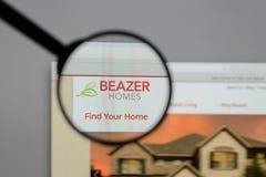 Μιλάνο, Ιταλία - 10 Αυγούστου 2017: Λογότυπο των εγχώριων ΗΠΑ Beazer στον Ιστό Στοκ Φωτογραφίες
