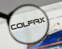 Μιλάνο, Ιταλία - 10 Αυγούστου 2017: Λογότυπο Colfax στο σπίτι ιστοχώρου στοκ φωτογραφία με δικαίωμα ελεύθερης χρήσης