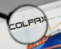 Μιλάνο, Ιταλία - 10 Αυγούστου 2017: Λογότυπο Colfax στο σπίτι ιστοχώρου στοκ φωτογραφία
