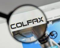 Μιλάνο, Ιταλία - 10 Αυγούστου 2017: Λογότυπο Colfax στο σπίτι ιστοχώρου στοκ φωτογραφίες