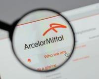 Μιλάνο, Ιταλία - 10 Αυγούστου 2017: Λογότυπο Mittal Arcelor στο websi Στοκ φωτογραφία με δικαίωμα ελεύθερης χρήσης