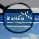 Μιλάνο, Ιταλία - 10 Αυγούστου 2017: Μπλε λογότυπο μετοχών Linx στο W Στοκ Φωτογραφία