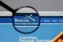 Μιλάνο, Ιταλία - 10 Αυγούστου 2017: Μπλε λογότυπο μετοχών Linx στο W Στοκ Φωτογραφίες