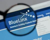 Μιλάνο, Ιταλία - 10 Αυγούστου 2017: Μπλε λογότυπο μετοχών Linx στο W Στοκ εικόνα με δικαίωμα ελεύθερης χρήσης