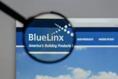Μιλάνο, Ιταλία - 10 Αυγούστου 2017: Μπλε λογότυπο μετοχών Linx στο W Στοκ φωτογραφία με δικαίωμα ελεύθερης χρήσης