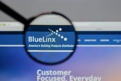 Μιλάνο, Ιταλία - 10 Αυγούστου 2017: Μπλε λογότυπο μετοχών Linx στο W Στοκ εικόνες με δικαίωμα ελεύθερης χρήσης