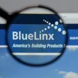 Μιλάνο, Ιταλία - 10 Αυγούστου 2017: Μπλε λογότυπο μετοχών Linx στο W Στοκ Εικόνες