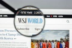 Μιλάνο, Ιταλία - 10 Αυγούστου 2017: Σπίτι ιστοχώρου της Wall Street Journal Στοκ εικόνες με δικαίωμα ελεύθερης χρήσης