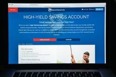 Μιλάνο, Ιταλία - 10 Αυγούστου 2017: Τράπεζα του ιστοχώρου Διαδικτύου ΗΠΑ hom Στοκ Εικόνες